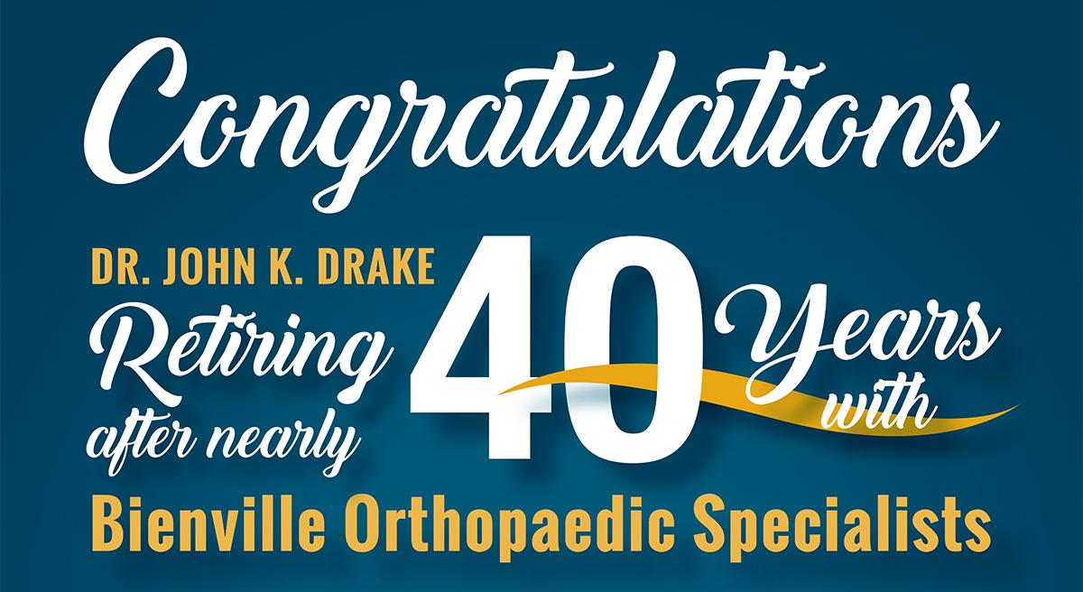 Dr. Drake retiring