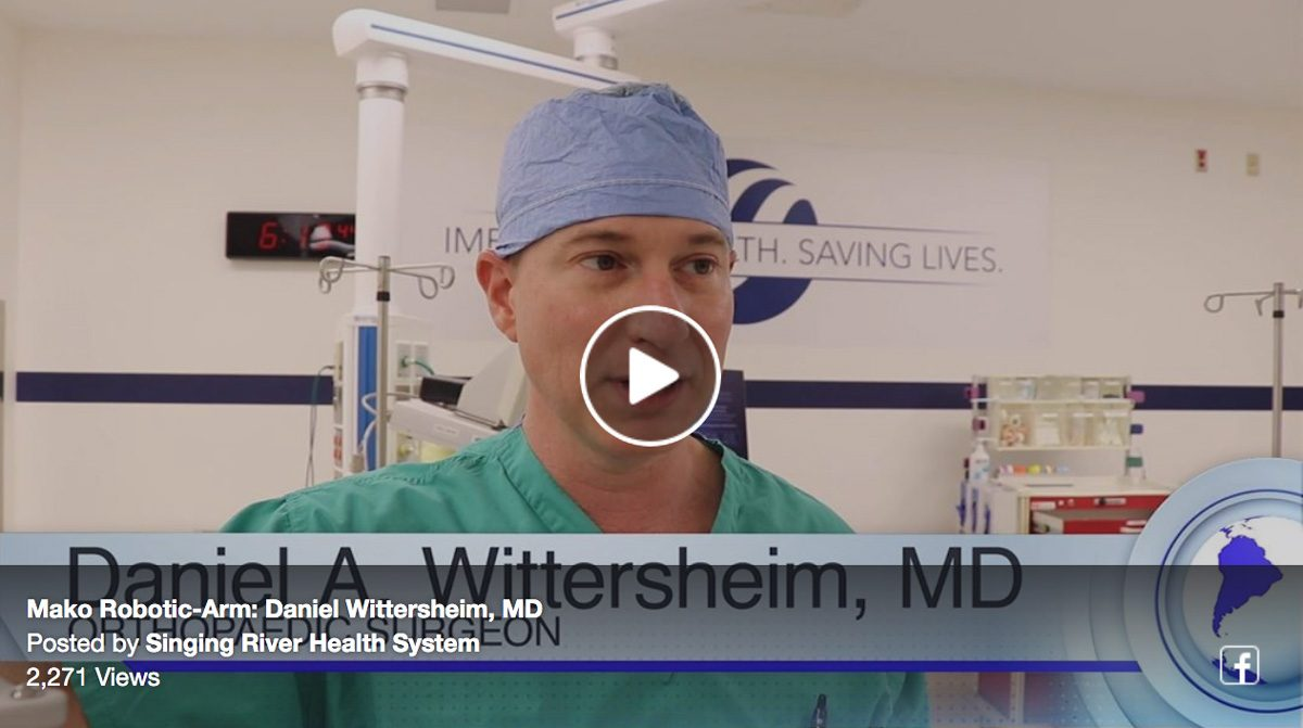 Dr. Wittersheim discusses how the Mako Robotic-Arm assists during knee & hip replacements